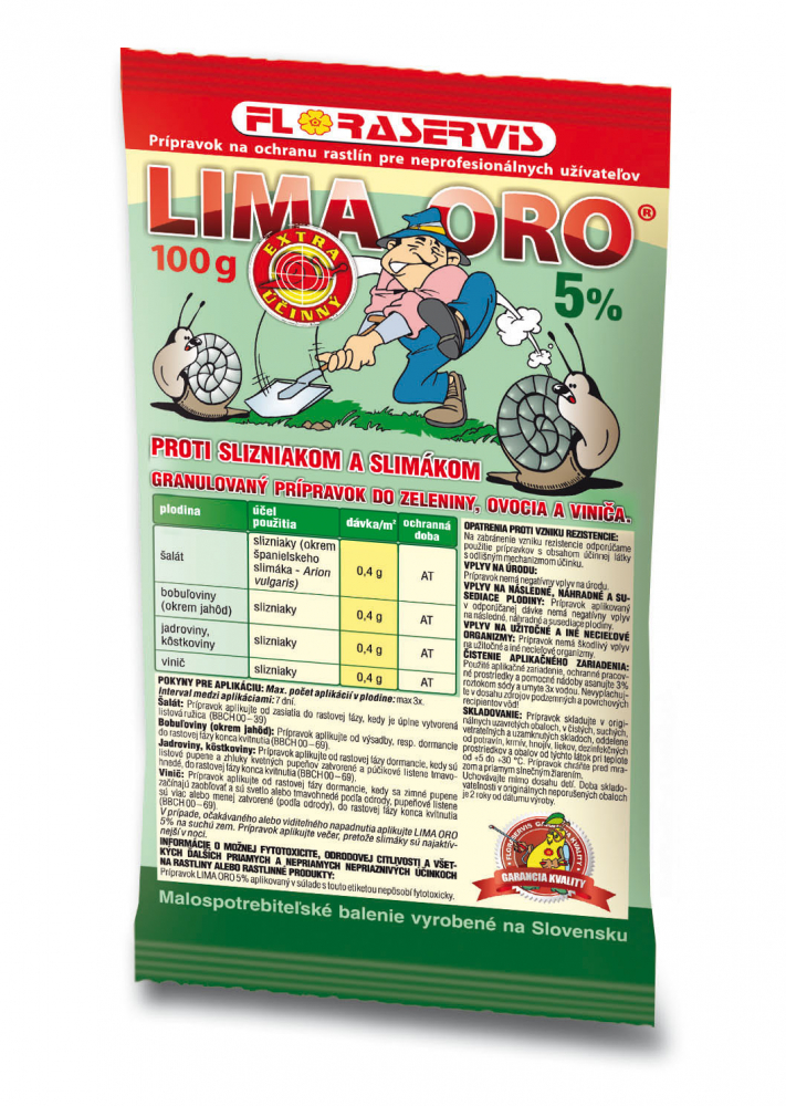 Lima Oro 5% 100g Floraservis